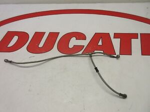 Ducati front brake line hose Stainless Braided 61840362A 748 996 998