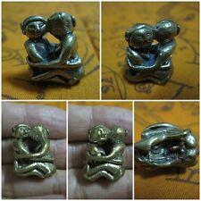 Brass Figurine Thai Couple Kama Sutra Amulet Statue Surprise & Powerful Love C28
