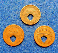West Virginia Coal Scrip Lot: 3 different $.01 tokens, Amherst Coal, Amherstdale