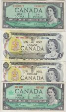 More details for seven canada 1954 & 1973 dollar notes in near extremely fine to mint condition