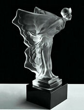 """Art Deco Sculpture Bohemian Art Glass Car Mascot Rolls Royce"""" Butterfly Girl """""""