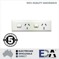 15 AMP + 10 Amp Skirting Double Power Point DGPO Electric Socket  Outlet 240v