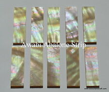 10pcs inlay material awabi abalone shell blanks size 29 x 9 x 1.0mm premium