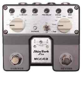 Mooer Audio Shimverb Pro Reverb/Shimmer Guitar or Bass Effect Pedal - Brand New!