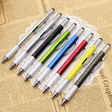 6in1 Pen Multi Function Tool Stylus Ballpoint Screwdriver Ruler Touch Screen New