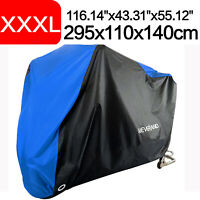 XXXL Motorcycle Motorbike Cover Waterproof Outdoor Rain Scooter Protector Blue