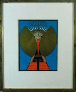 "Bauhaus-Umkreis,""The light of the soul"" Feder, Schreyer-Klasse, 20/30er"