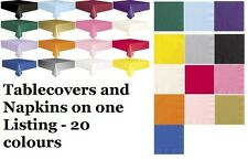 Lunch Napkins and Plastic Tablecovers Table Cloth Cloths Rectangle Oblong