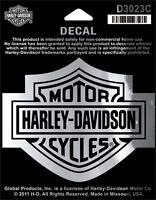 "Harley-Davidson Aufkleber/Decal ""BAR + SHIELD SILBER "" mittel *D3023C*"