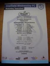 05/05/2012 Colour Teamsheet: Sheffield Wednesday v Wycombe Wanderers