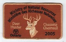 2005 Ontario MNR Deer Hunter Patch-Michigan DNR Deer-Bär-Moose-Elch - CREST-EMBLEM