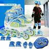 Adjustable Inline Skates Kids Adults Rollerblades Wheel Light Up Inline Roller