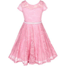 ROSE Flower Girl Dress Wedding Pageant Dance Bridesmaid Gown Recital Formal Prom