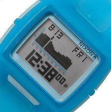 $125 NEW Nixon Translucent Blue Lodown II Men's Digital Tide Watch A289-1781