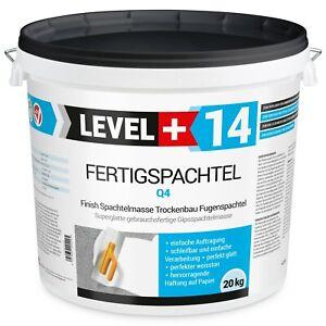 20kg Spachtel Masse Finish Fertig Q4 Glätt Flächen Füll Fertigspachtel RM14