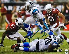Cam Newton Carolina Panthers (Hurdle Vs Cardinals) Signed 16x20 Photo JSA
