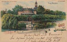 """Dresden, """"Halt gegen das Licht"""" AK, Verlag Max Köhler Nr. 20, 1899"""