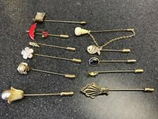 Stick Pins or Scarf Pin Brooch 11 Vintage Classic Stick Pins, Hat