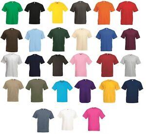 3 Or 5 Pack FOTL Men 100% Cotton Valueweight T-Shirt Plain Short Sleeve Tee Top