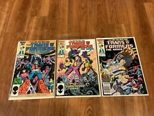 Transformers: The Movie 3 Issue Limited Comic Series Issues 1-3 VF 1, 2, 3