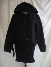"Mens Coat - Burtons, size M 38-40"", grey, hooded, bobbly/worn/marks - 7760"