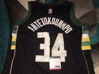 Giannis Antetokounmpo Signed Milwaukee Bucks Jersey Greek Freak  PSA/DNA #2