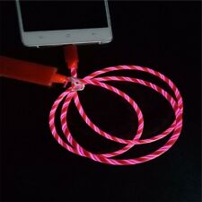 Apple iPhone 11, X, 8, 7 Light Up USB Data Sync Flowing Bands LED Charger Cable