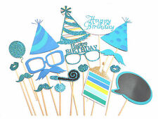 18pcs Photo Booth Party Props Kids Party Events Show Birthday Fun Selfie Sticks