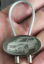Hyundai Tucson Mod. 2017 Schlüsselanhänger Fotogravur Keyring