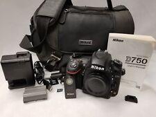 Nikon D D750 24.3MP Digital SLR Camera - Black (Body Only) Shutter Count: 1230