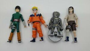 Naruto Figure Lot 3 Mattel Rare Chakra Attack Neji Naruto Rock Lee