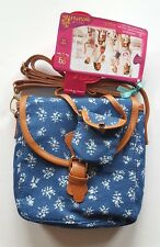My Generation OG Outfitters Me & You Blue Floral Purse Handbag for Doll & Girl