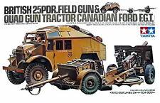TAMIYA 1/35 BRITISH 25PDR FIELD GUN & QUAD GUN TRACTOR PLASITC KIT TA35044