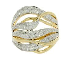 Vvs1 E 0.75 Ct Round Cut Diamond Solid Gold Right Hand Anniversary Ring Pave Set