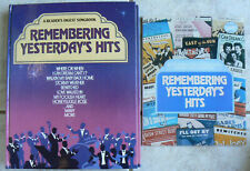 Reader's Digest:Remembering Yesterday'S Hits & Words bk 1986,Piano/Vocal/Guitar