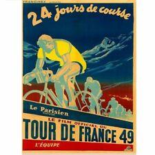 "1949 Tour De France Bicycle Poster vintage bicycle art 18"" x 24"""