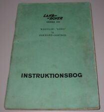 Instruktionsbog Land Rover Series II A 88 109 Regular Long + Forword Control