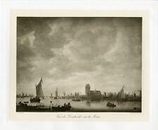 """""""VAN GOYEN: Dordrecht s/ la Meuse"""" Phototypie originale BRAUN CLEMENT & Cie 1890"""