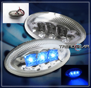 UNIVERSAL FRONT LED OVAL SIDE MARKER LIGHT LAMP SET MINI COOPER MIRAGE 350Z 370Z