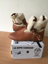 shearling Real Fur Ankle Brown Boots, Size 41, Uk 8 Superb!
