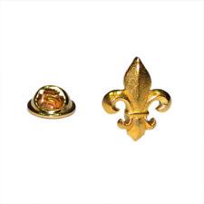 Gold Plated Fleur de Lys Pewter Lapel Pin Badge XWTP004