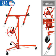 11Ft Drywall Lift Plasterboard Panel Rolling Lifter Lockable Industrial Tool Red
