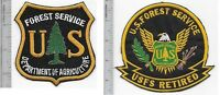 US Forest Service USFS Hotshot Wildland  Fire Crew & USFS Retired Patch Vel hook
