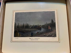 antique tea tray-View Of Cambridge, 1800s postcard by F. Mackenzie/J. Le Keux