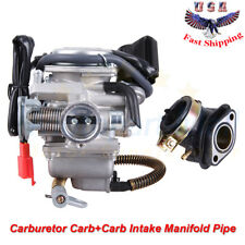 Gy6 150cc Carburetor Carb& Intake Manifold For Atv Gokart Roketa Taotao Sunl Jcl