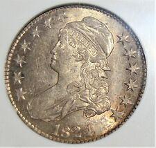 1824 Capped Bust Half Dollar O-108 NGC AU-58.
