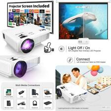 """DR. J Professional HI-04 1080P Supported 4Inch Mini Projector with 170""""..."""