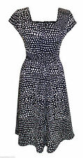 Viscose Scoop Neck Spotted Dresses for Women