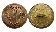 Ancien Bouton de l'uniforme d'une société, Lettres RTT. France. 21 mm. Vers 1920