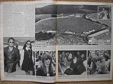 1969 ISLE ISOLA DI WIGHT FESTIVAL BOB DYLAN JOHN LENNON OGGI ITALIAN MAGAZINE